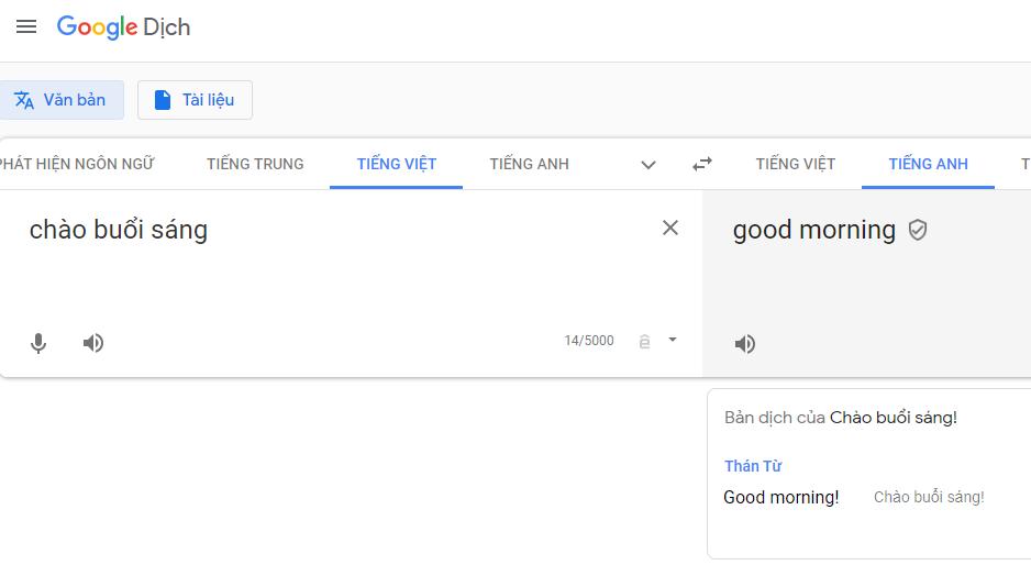 Mẹo sử dụng Google dịch